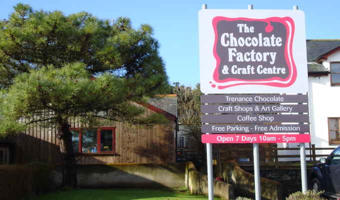 Chocolate factory entrance